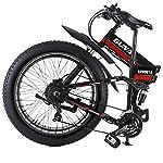 GUNAI-Mountain-Bike-Elettrica-Bici-elettrica-1000W-Bici-Montagna-Ebike-21-velocita-26-Full-Suspension-48V12AH-Pedali-Assist-con-Sedile-Posteriore