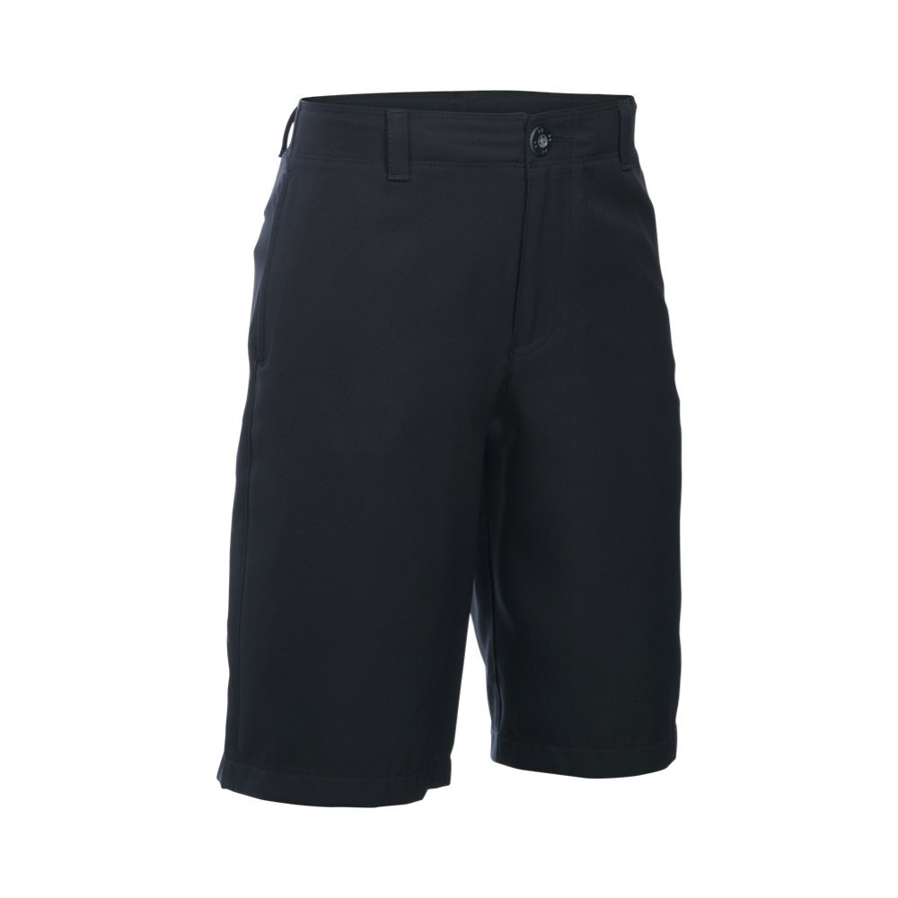 Under Armour Boys' Medal Play Golf Shorts, Black (001)/Graphite, Youth Small by Under Armour