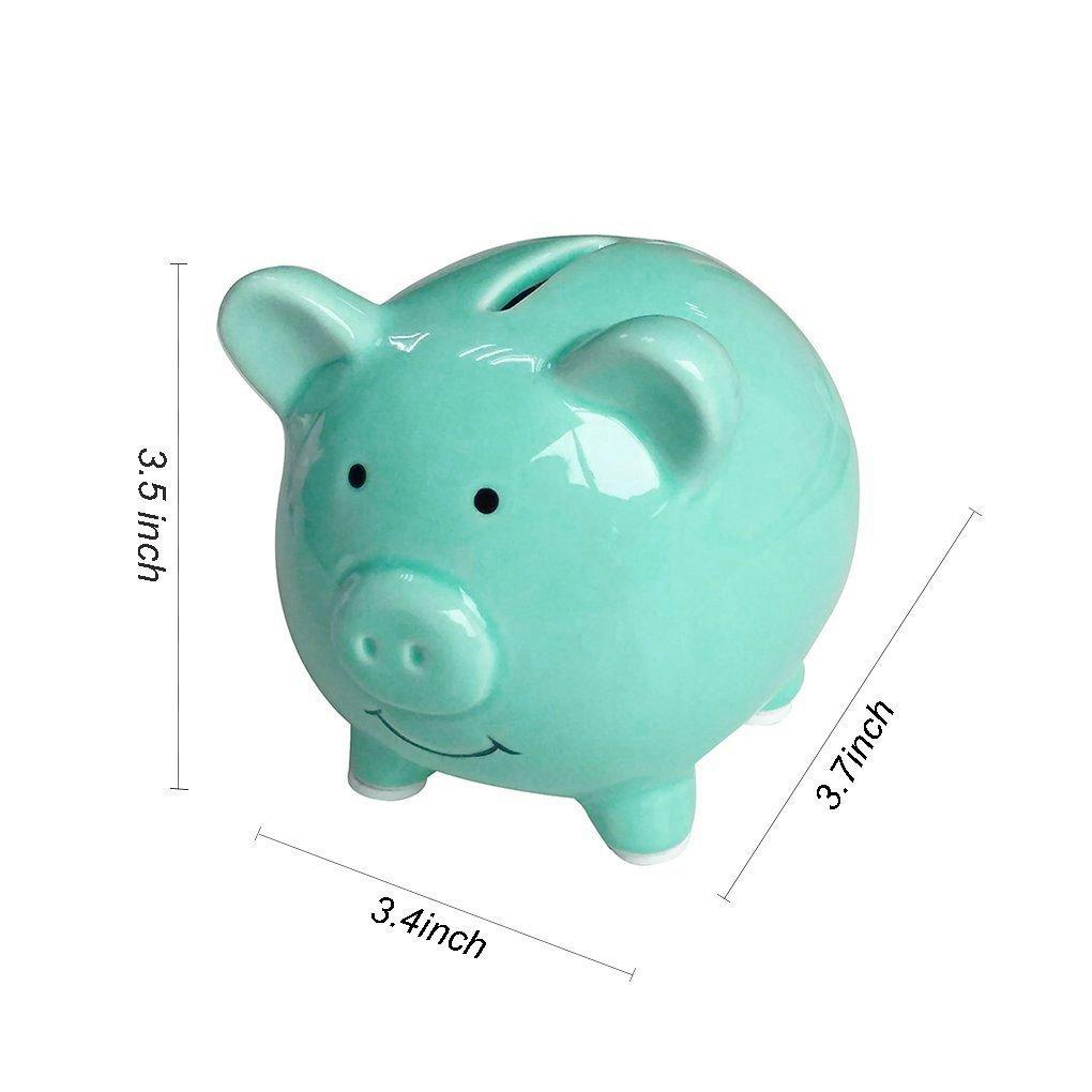Piggy Bank Mini Small Cute Ceramic Coin Money Piggy Bank Kids Piggy Banks A New Piggy Banks For Gift For Children Green