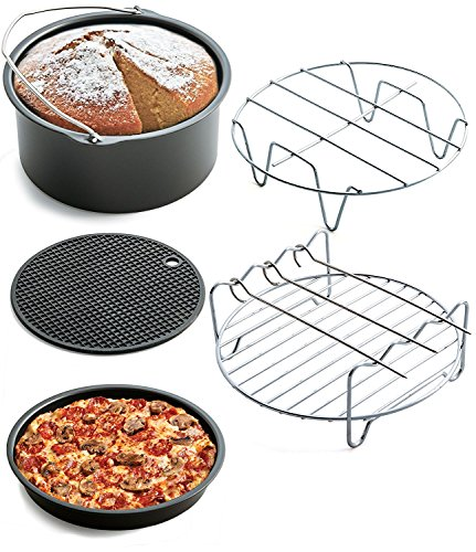 Air Fryer Accessory Set 5 piece set Universal Air Fryer Accessories for Phillips Gowise Cozyna Power Air Fryers Fit all Standard Air Fryer 3.2-5.8QT