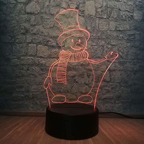 3D Lampe 3d neuheit schöne schneemann nachtlicht atmosphäre rgb bunte beleuchtung tisch led lampe decor kid toys…