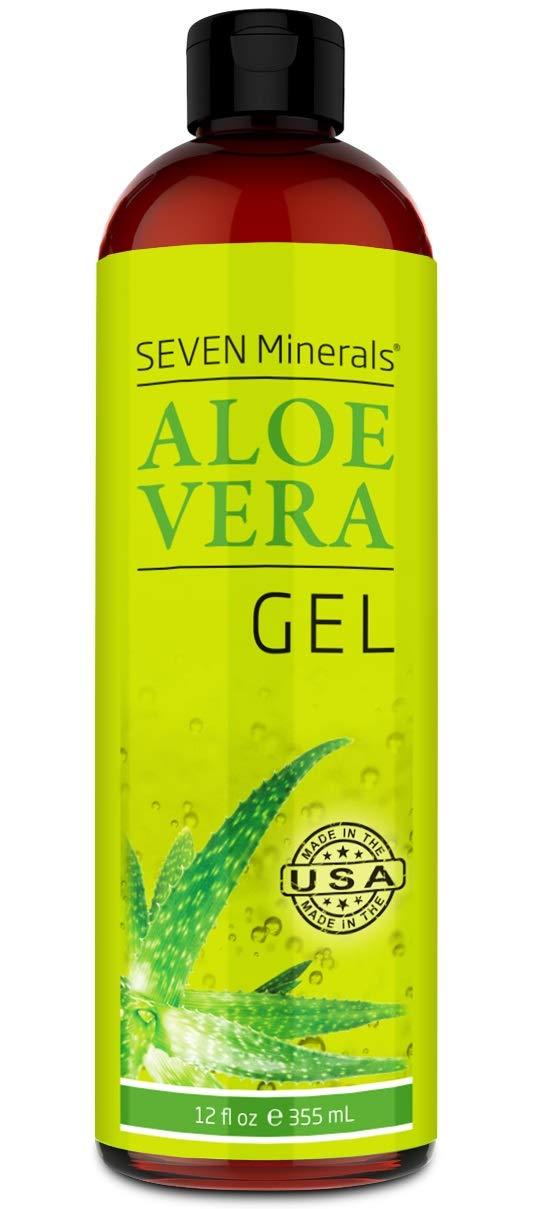 Organic Aloe Vera Gel with 100% Pure Aloe From Freshly Cut Plant