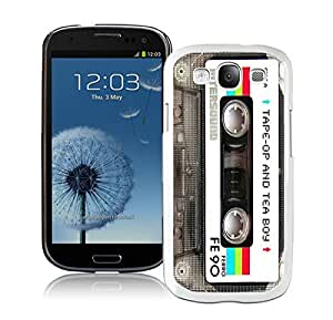 Samsung Galaxy S3 Case I9300 Element Audio Cassette White Cell Phone Case Cover Protector