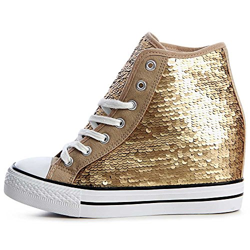 Coin Chaussures Sport Or Femmes Baskets Topschuhe24 De xwpUqSvx0