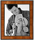 Malden International Designs Picture Frame with Black Border, 8 by 10-Inch, Walnut Wooden Finish