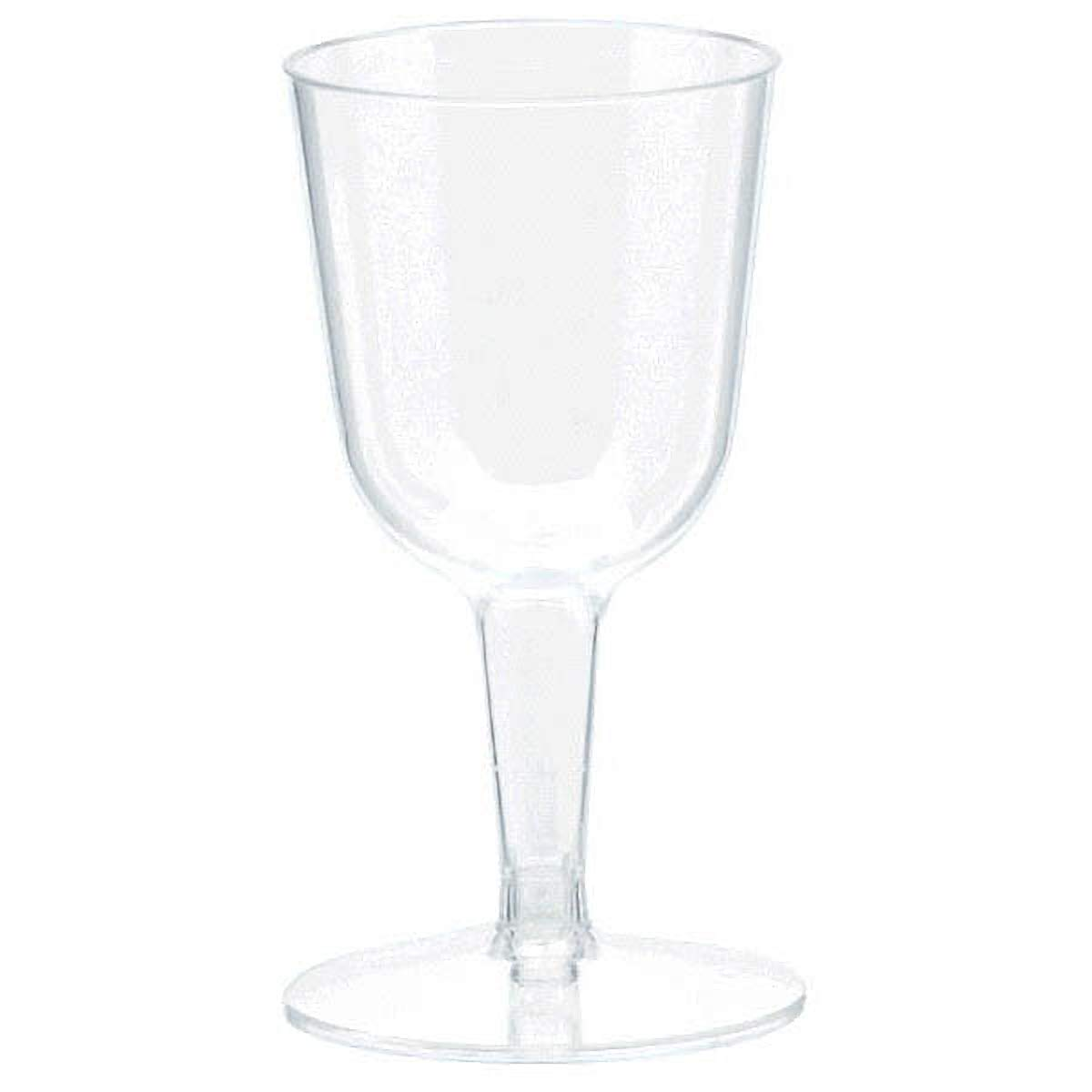 TradeMart Inc Amscan Clear Mini Wine Glasses 2.5 oz | 120 Ct 357806.86
