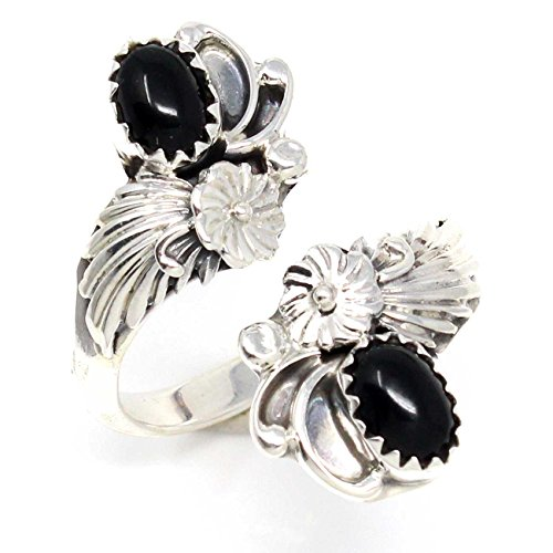 (L7 Enterprises Navajo Silver Adustable Onyx Ring)