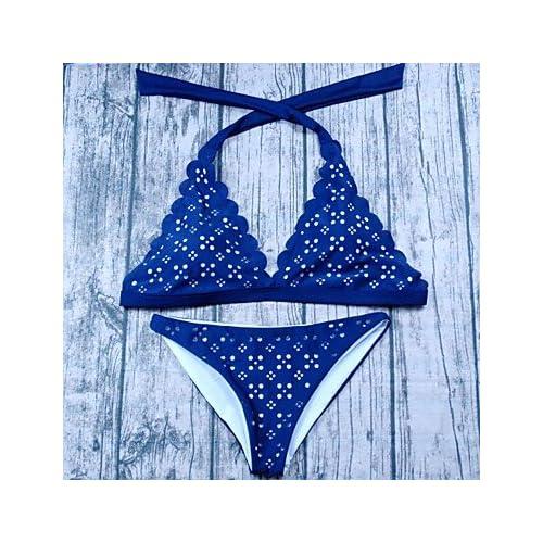 beb84564d735 70% OFF FJY&YY Mujer Sólido Con Tirantes Bikini Bañadores Vintage ...