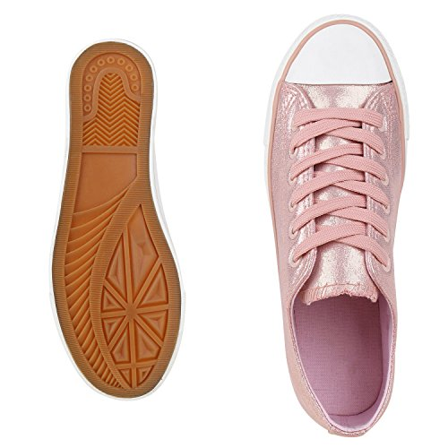 best-boots Damen Turnschuh Sneaker Slipper Halbschuhe sportlich Rosa Neu Nuovo