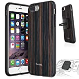 Evutec AER Series Wood Phone Case for iPhone 7 Plus with AFIX Magnetic Vent Mount - Ebony