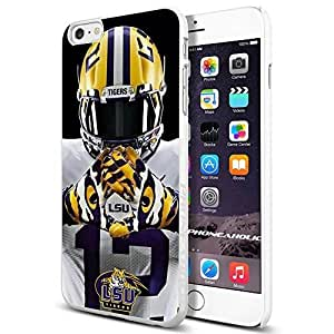 NCAA ISU Tiger football, , Cool iphone 6 Smartphone Case Cover Collector iphone TPU Rubber Case White [By PhoneAholic]