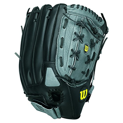 Wilson A360 Baseball Glove, Grey/Black/White, Left Hand Throw, 12-Inch