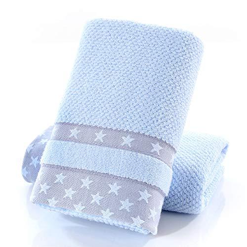 LybMaoJ Hilo límite de algodón Estrellas de Toalla, Azul, 35 * 75, Set of 2: Amazon.es: Hogar