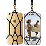TOOVREN aa-83 Cell Phone Holder Lanyard Silicone Lanyard Smart Phone Case Cover with Detachable Necklace Wrist Strap for iPhone X/6/6S/7 Plus/8/8 Plus/Samsung Galaxy S8 Plus/S6/S7/S8 Note 5