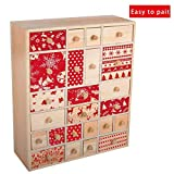 Vencer Wooden Christmas Advent Calendar Storage