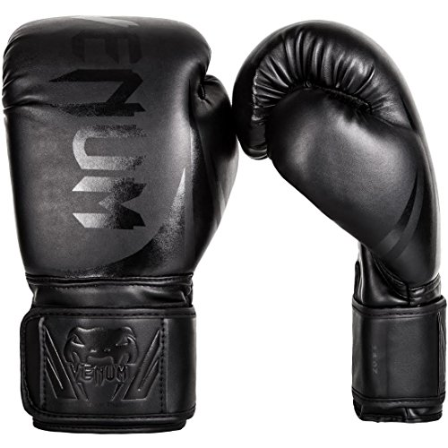 Venum Challenger 2.0 Boxing Gloves - Black/Black - 12-Ounce