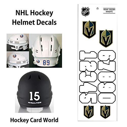 (Vegas Golden Knights (WHITE) NHL Hockey Helmet Decals Sticker)