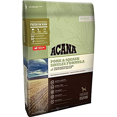 ACANA Pork & Squash, Limited Ingredient Dry Dog Food 13 Pounds, Biologically Appropriate & Grain Free