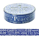 Font layers navy type face blue white typography Aimez le style Japanese Washi Tape 15mm x 12 m