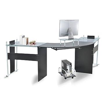 Soporte genérico para Escritorio de Oficina, Ordenador portátil, Mesa de Cristal Moderno, para