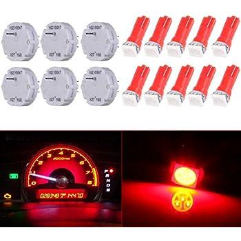 7 Pack Stepper Motor with 9Pack Red T5 LED Bulb cciyu Stepper Motors X27.168 Instrument Repair Speedometer Gauge Cluster W T5 Wedge Bulbs