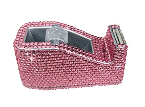 Amazon.com : Desktop Tape Dispenser Rhinestone Heavy Duty Tape Dispenser, Multi Color (Pink) : Office Products