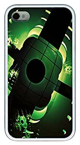 iPhone 4S CaseBlack And Light Green TPU Custom iPhone 4/4S Case Cover White