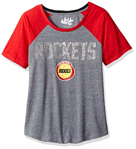Touch by Alyssa Milano NBA Houston Rockets Conference Tee Plus, 2X, Heather Grey