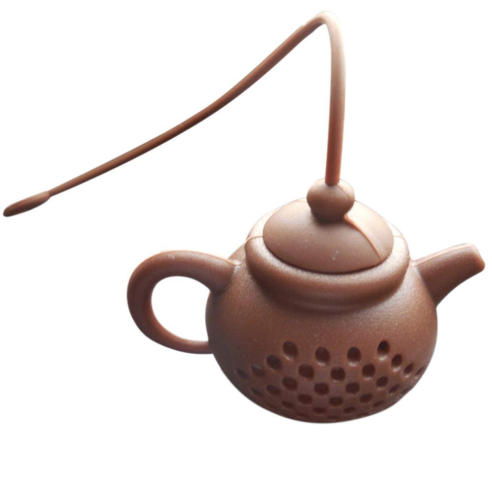 YaidaDetails About Teapot-Shape Tea Infuser Strainer Silicone Tea Bag Leaf Filter Diffuser (Coffee)