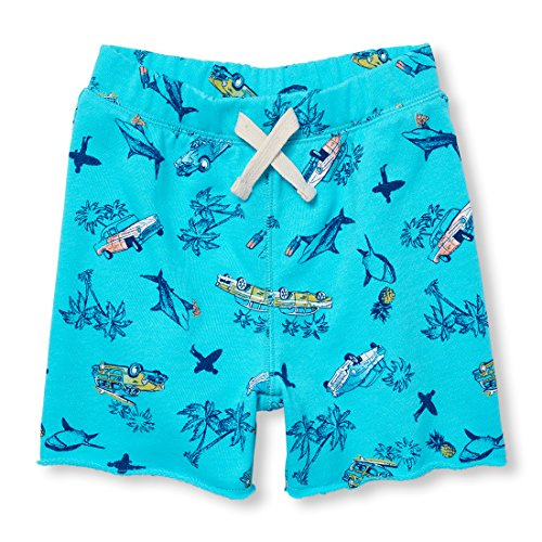The Children's Place Baby Boys French Terry Active Shorts, Blue Atoll 98055, (220 Terry)