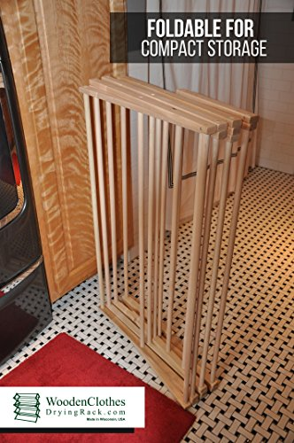 Large Wooden Clothes Drying Rack by Benson Wood Products by Benson Wood Products (Image #3)