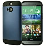 HTC ONE 2 M8 case AnoKe? Armor dual layer bumper case TPU PC hybrid protective case for HTC ONE 2 M8 All New One case (Armor Metal slate)