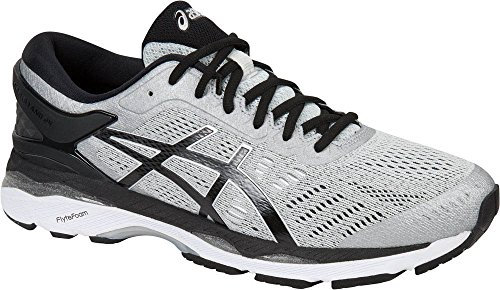 ASICS Men's Gel-Kayano 24 Running Shoe, Silver/Black/Mid Grey, 11 Medium US