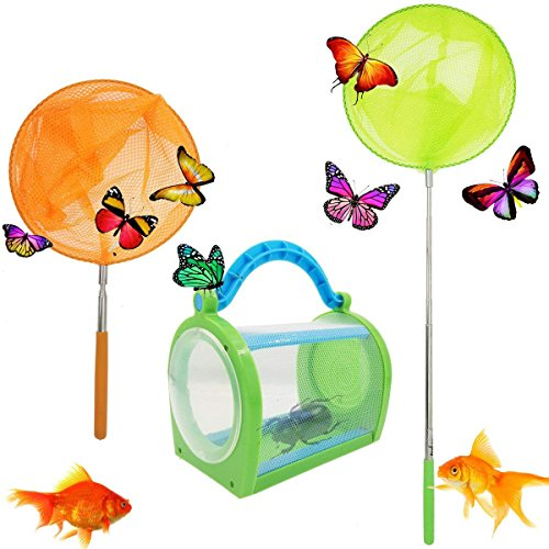 M-jump Outdoor Nature Exploration Toys - Insect Bug Adventure Set - Includes Legerity Portable Bug House Toy Carrying Handle,Butterfly Insect -