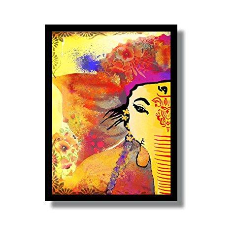 Amazon.com: Ganesha Art- abstract painting, Ganesha wall art, Indian ...