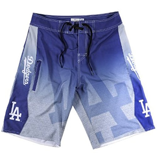 2015 MLB Baseball Mens Gradient Swimsuit Board Shorts - Pick Team (Los Angeles Dodgers, 34)