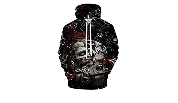 Amazon.com: dontcareme 3D Hooded Sweatshirt Men Women Funny Muti Faces Printed Hoodies Sweatshirts Mens: Clothing