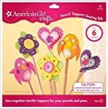 American Girl Crafts Felt Pencil Toppers Sewing Kit for Girls, 69pc
