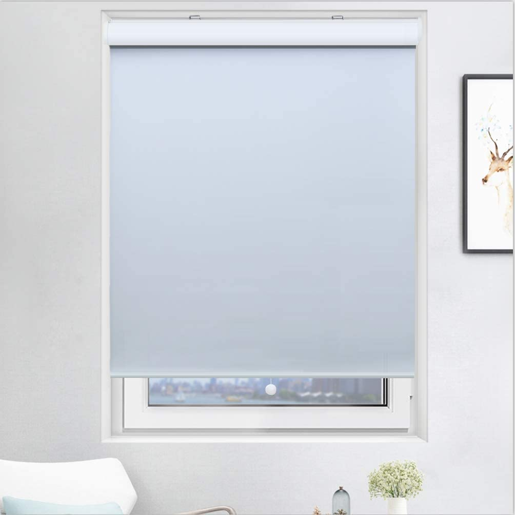 Acholo Cordless Blinds for Windows, Blackout Window Blinds and Shades for Home Bedroom Kitchen or Office with Valance, White, W20 x H72 inch