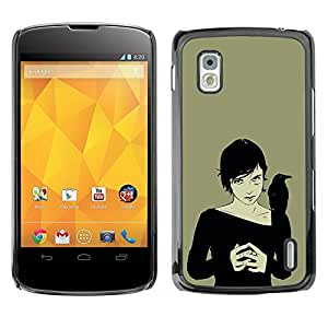 Paccase / SLIM PC / Aliminium Casa Carcasa Funda Case Cover para - Witch & Crow - LG Google Nexus 4 E960