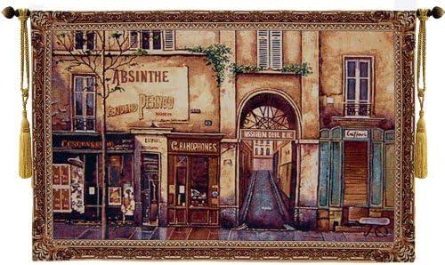 Beautiful European Street Fine Tapestry Jacquard Woven Wall Hanging Art Decor