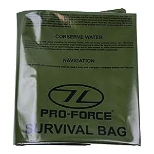 Highlander - Kit de supervivencia - - Emergency Survival Bolsa de Oliva