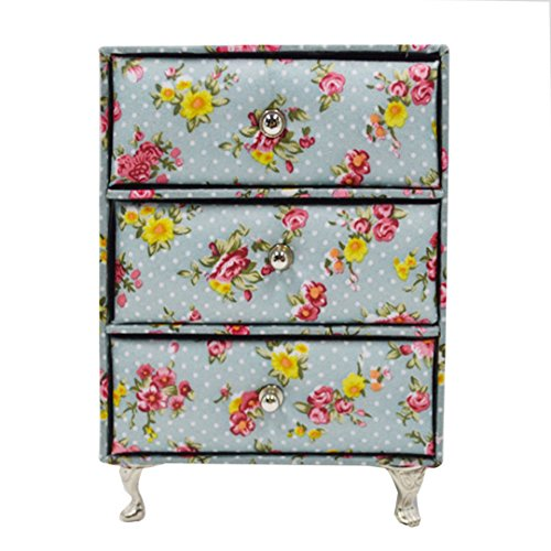 Felice Kids Jewelry Box Storager Organizer Floral Jewelry Chest Armoire Sofa Couch Round Bed Dollhouse Furniture (Chest) - Armoire Floral Jewelry