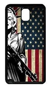 IMARTCASE Samsung Galaxy Note 3 Case, Marilyn Monroe American Flag Durable Case Cover for Samsung Galaxy Note 3 N9000 TPU Black