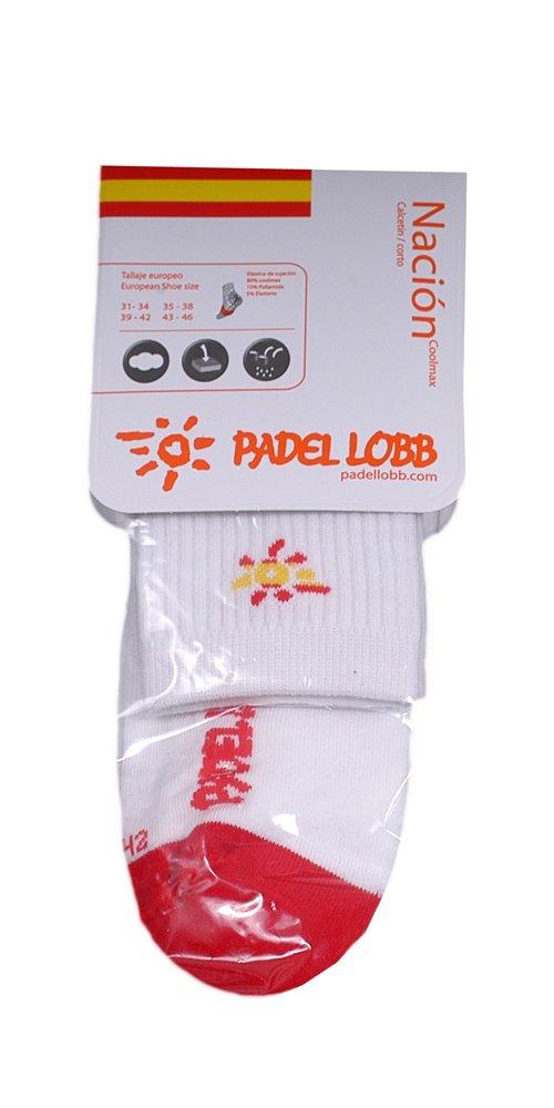 Padel Lobb - Calcetín españa coolmax, talla 31/34 , color blanco ...
