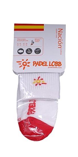 Padel Lobb - Calcetín españa coolmax, talla 31/34 , color blanco: Amazon.es: Deportes y aire libre