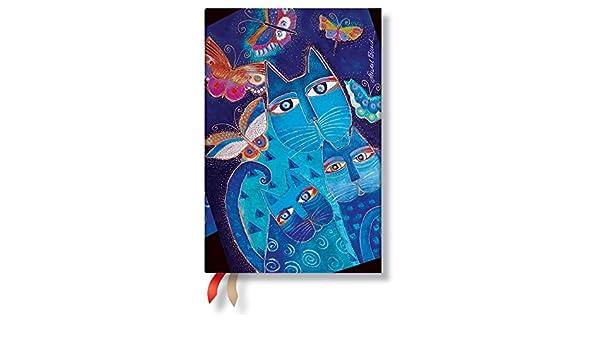 PAPERBLANKS Agenda gatos azules y mariposas, color negro ...