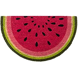 """DII Indoor/Outdoor Natural Coir Easy Clean Rubber Non Slip Backing Entry Way Doormat For Patio, Front Door, All Weather Exterior Doors, 18 x 30"""" - Watermelon"""