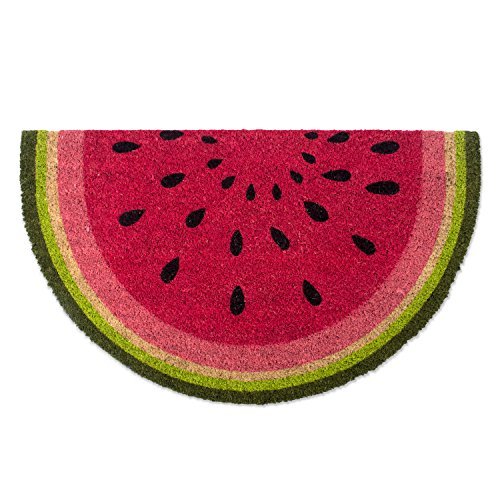 DII Natural Coir Fiber, 18x30 Entry Way Outdoor Door Mat with Non Slip Backing- Watermelon