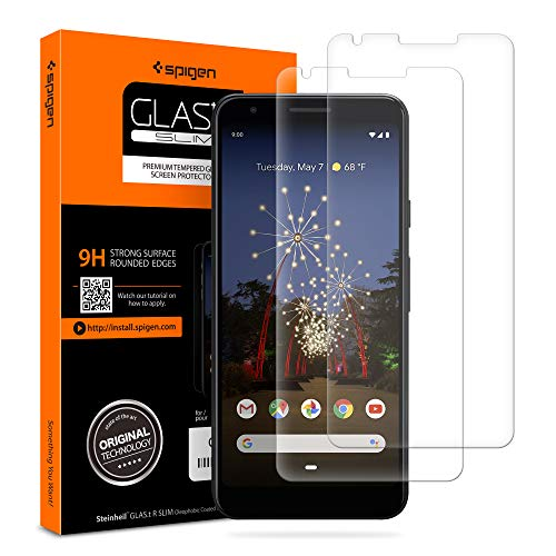 Spigen Tempered Glass Screen Protector Designed for Google Pixel 3a [2 Pack]